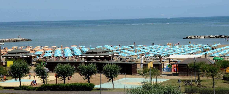Panorama Spiaggia e Ombrelloni B&B Maria Serena